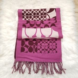 Coach Winter Scarf Reversible